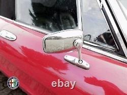 2 Outside Mirror Oval Spider Alfa Romeo 105 115 Giulia Alfetta Gt With Kba