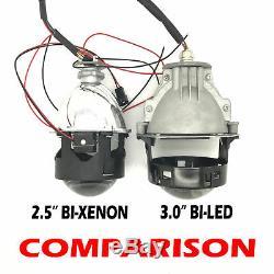 2 X 3 Complete Bi-led Extension Lens Projectors H1 H7 H4 Xenon Halo Cover