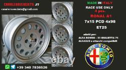 Alfa Romeo Ronal A1 Alloy Wheels 15 Inches 4x98 Alfetta Alfetta Gt Gtv 75