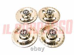 Coupe Wheels Balls Cover Moyeu + Blasons Alfa Romeo Alfetta Berline