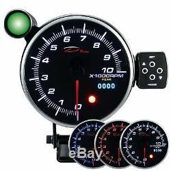 D Racing 115mm Rotation Speed meter Gauge Display Instrument