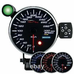 D Racing 115mm Speed Show Instrument Speedometer Calibre Attention