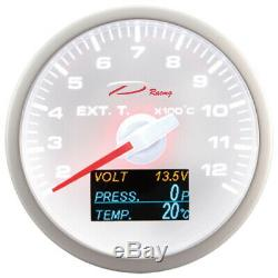 D Racing 4in1 Exhaust Temperature Display On Oil Gas Pressure From