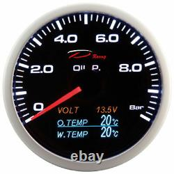 D Racing 4in1 Oil Pressure Show Temperature Of Water Oil