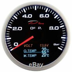 D Racing 4in1 On Display Oil Pressure Water Temperature Oil