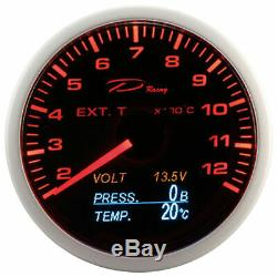 D Racing 4in1 Temperature Display Pressure Exhaust Gas From Oil