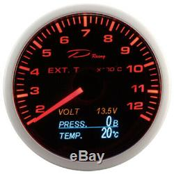 D Racing 4in1 Temperature Display Pressure Exhaust Gas From Oil V