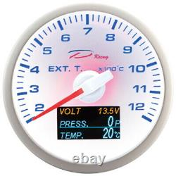 D Racing 4in1 Temperature Of The Exhaust Gases Show Oil Pressure From