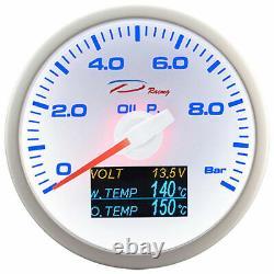 D Racing 4in1 'ldruck Show Temperature Of Oil Temperature Water Temperature