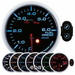 D Racing 52mm Fuel Pressure Display Instrument Warning Pic Caliber Vw