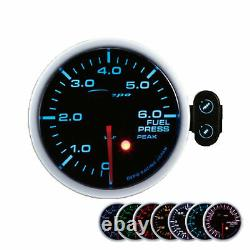Depo Racing 60mm Fuel Pressure Show Instrument Attention Peak Gauge
