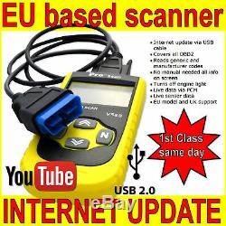 For Alfa Romeo Car Diagnostic Scanner Code Reader Pro Tool Obd Fault