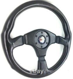 Genuine Leather Steering Wheel Momo 360mm Alfa Romeo Sz, Alfetta Spider Etc 9c