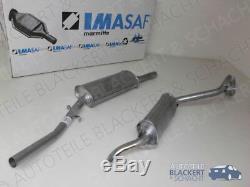 Imasaf Exhaust Middle Pot Set + Silent Alfa Romeo Alfetta 1.6 Gt