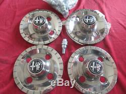 Original Alfa Romeo Alfetta / South Sprint Covers Kit For Lm-räder 4x98 Nine