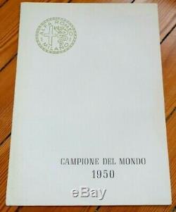 Prospekt Brochure Prospectus 1950 Alfa Romeo Campione Del Mondo Alfetta F1