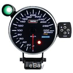 Prosport 115mm Speed display Instrument Meter Gauge Warning Point