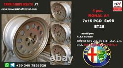 4 jantes alliage Alfa Romeo Ronal A1 7x15 5x98 155164 jantes Alfetta GTV6 felgen