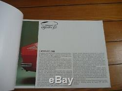 Brochure Prospekt Catalogue Presse Kit Dossier ALFA ROMEO ALFETTA GT Italien/FR