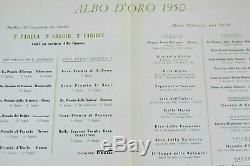 Brochure Prospekt Prospectus 1950 ALFA ROMEO ALFETTA F1 CAMPIONE DEL MONDO