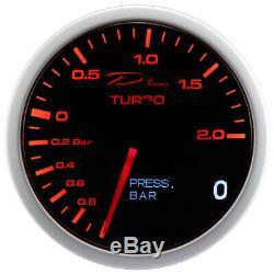 D Racing 2in1 Suralimentation Afficher Pression D'Huile Boost Oil Pressure Gauge