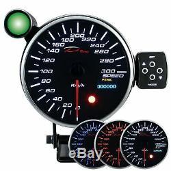D racing 115mm Vitesse Afficher Instrument Compteur de Vitesse Calibre Attention