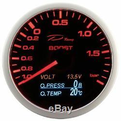D racing 4in1 Suralimentation Afficher Pression Température De L'Huile Volt
