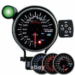 D racing 95mm Vitesse Afficher Instrument Compteur de Calibre Attention