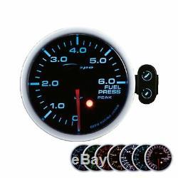 Depo Racing 60mm Pression de Carburant Afficher Instrument Attention Peak Gauge