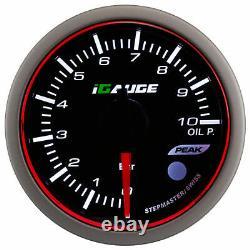 IGauge WRC Halo premium 60mm Pression D'Huile Afficher Oil Pressure Calibre JDM
