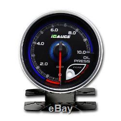 Igauge 256C 60mm Pression D'Huile 256 Couleurs à Distance Afficher Oil Pressure
