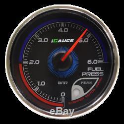 Igauge 256C 60mm Pression de Carburant 256 Couleurs à Distance Afficher Presse