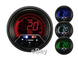 Igauge Evo Premium 60mm Pression de Carburant Afficher Presse Calibre Warn Peak