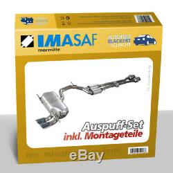 Imasaf Auspuffset Pot Moyen + Silencieux Alfa Alfetta Gt 1.8 + Gtv 2.0 1974-1985