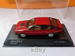 MINICHAMPS 1/43 Alfetta GTV 6 2,5 L 1983 Red Minichamps N°400 120140