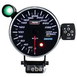 Prosport 115mm Vitesse Afficher Instrument Compteur de Calibre Attention Pic