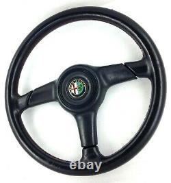 Véritable Nardi, Personnel 360mm Cuir Noir Direction Roue Alfa Romeo. 8A